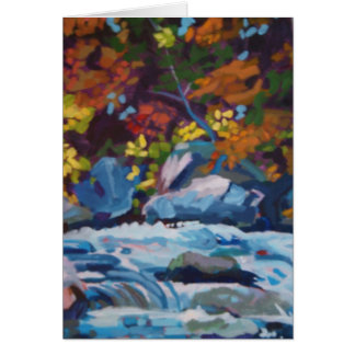 Autumn River Painting Card