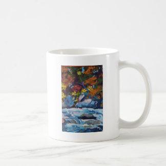 Autumn River Painting Coffee Mug