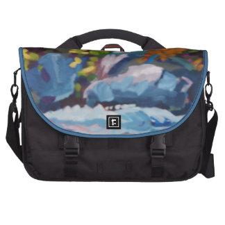 Autumn River Painting Commuter Bag