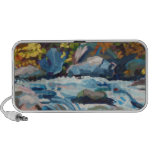 Autumn River Painting Portable Speakers