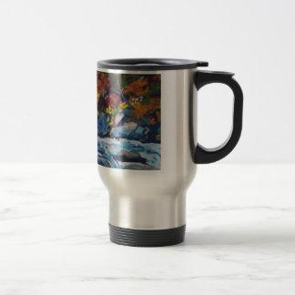 Autumn River Painting Travel Mug