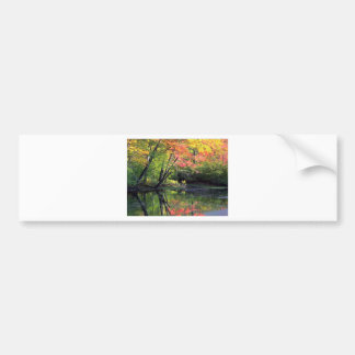 Autumn River Reflections Bumper Sticker