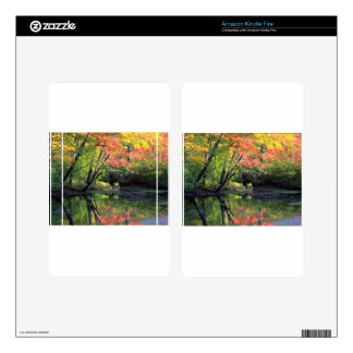 Autumn River Reflections Decals For Kindle Fire