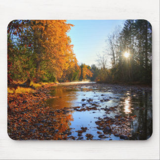 Autumn River Scene Wilderness Photo Mouse Pad