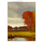 Autumn River Trees Painting Cards