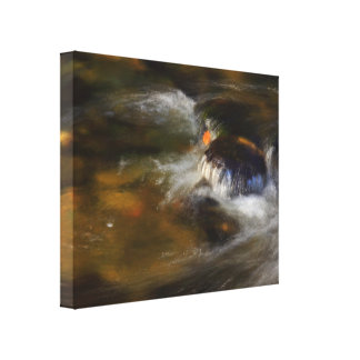 Autumn River Wrapped Canvas