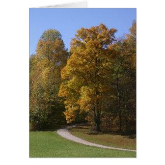 Autumn Road Card