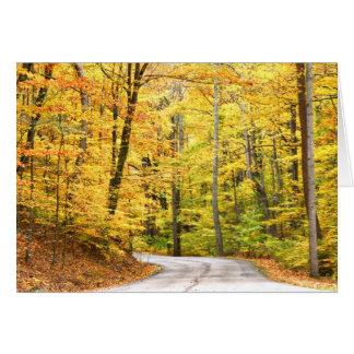 Autumn road cards