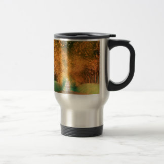 Autumn Road Cognac Region France Travel Mug