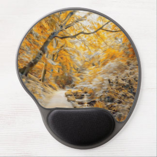 Autumn Road Gel Mouse Pad