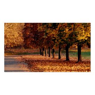 Autumn Roadway Business Card Template