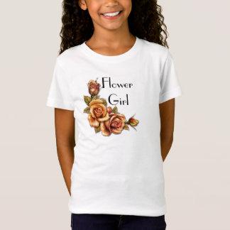 Autumn Rose Glow Wedding - Flower Girl T-Shirt