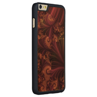 Autumn Rose Gold and Leaves Abstract Fractal Art Carved® Maple iPhone 6 Plus Slim Case