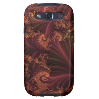 Autumn Rose Gold and Leaves Abstract Fractal Art Galaxy SIII Case