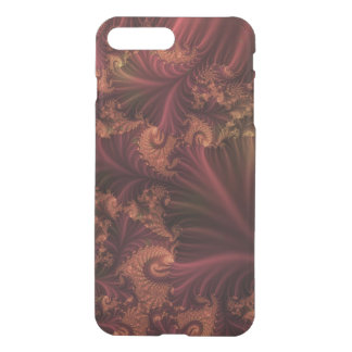 Autumn Rose Gold and Leaves Abstract Fractal Art iPhone 7 Plus Case