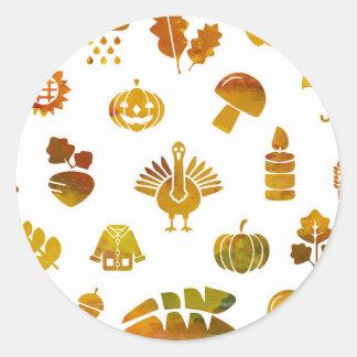 Autumn Round Sticker - Classic Sticker