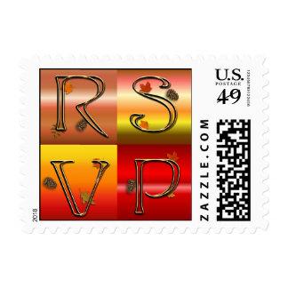 Autumn RSVP Small Stamp
