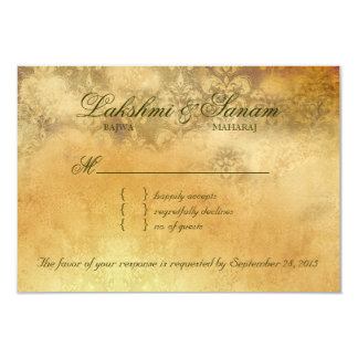 Autumn RSVP Wedding Reply Card Maple Leaves