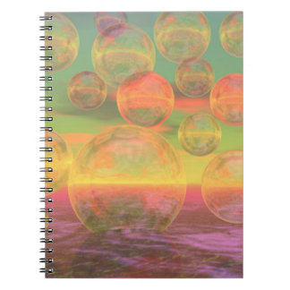 Autumn Ruminations – Gold & Rose Glory Spiral Notebooks