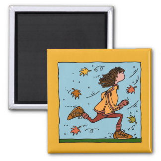 autumn runner (woman) magnet