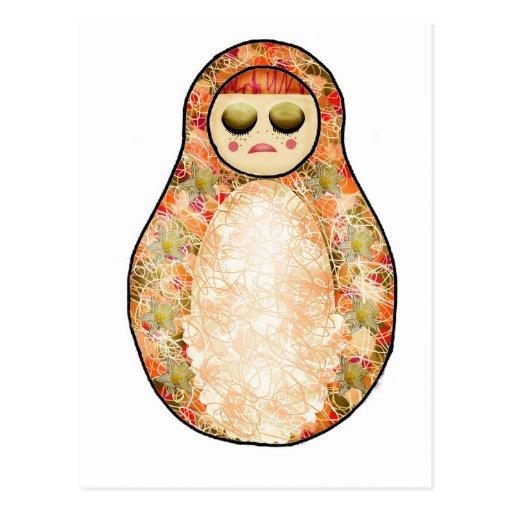 Autumn Russian Doll Post Card
