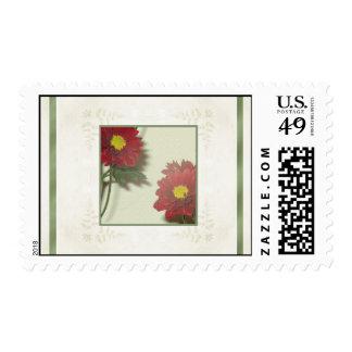 Autumn Rust Chrysanthemums Stamp