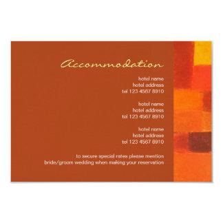"Autumn rust Wedding Enclosure Card 3.5"" X 5"" Invitation Card"