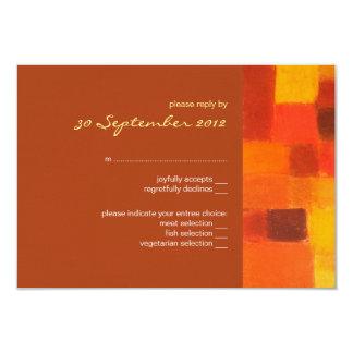 Autumn rust Wedding RSVP Card