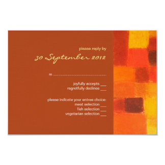 "Autumn rust Wedding RSVP Card 3.5"" X 5"" Invitation Card"
