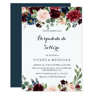 Autum Rustic Spanish Bridal Shower Invitations Zazzle