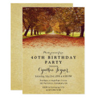 AUTUMN - Rustic Fall Autumn Birthday Invitation