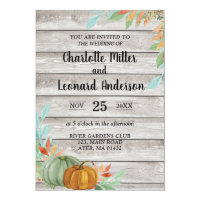 Autumn Rustic Pumpkins Wedding invitation