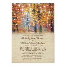 Autumn Rustic String Lights Vintage Fall Wedding