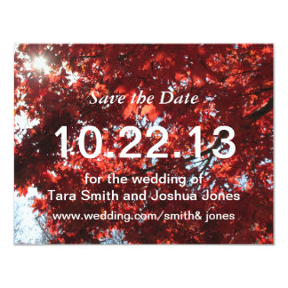 Autumn Save the Date Card