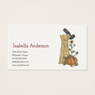 Autumn Scarecrows · Crow & Pumpkin Business Card