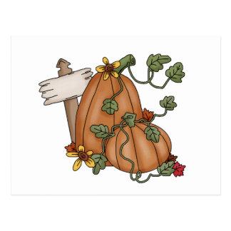 Autumn Scarecrows · Pumpkins Post Cards