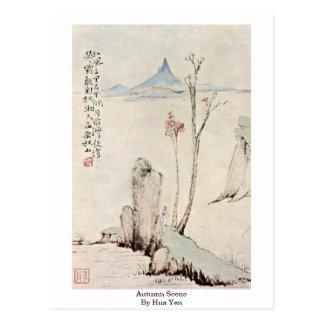 Autumn Scene By Hua Yen Postcard