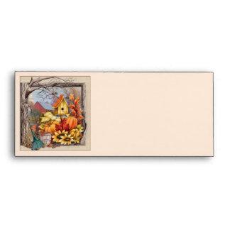 Autumn Scene envelopes for Thanksgiving