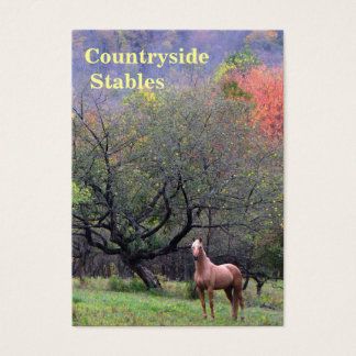 Autumn Scene Horse Stables Business Card