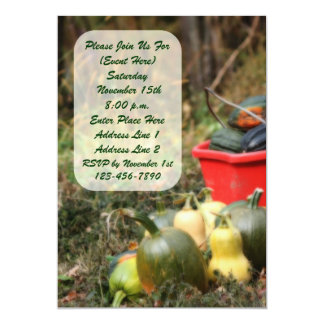 Autumn Scene Squash Harvest Nature Invitation