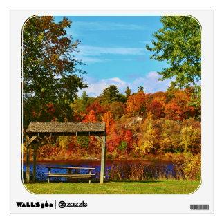 Autumn Scenery in Brewer, Maine 2015 Wall Sticker