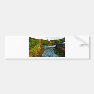 Autumn Scenic View of a Small New England Town Bumper Sticker