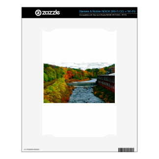 Autumn Scenic View of a Small New England Town NOOK Decal