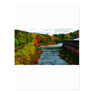 Autumn Scenic View of a Small New England Town Postcard