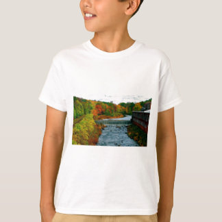 Autumn Scenic View of a Small New England Town T-Shirt