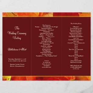 tri fold wedding programs zazzle