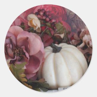Autumn Seals Classic Round Sticker