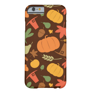Autumn seamless background, Thanksgiving day. Barely There iPhone 6 Case