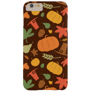 Autumn seamless background, Thanksgiving day. Barely There iPhone 6 Plus Case