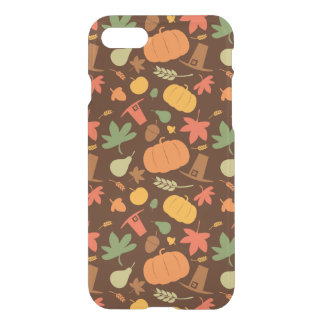 Autumn seamless background, Thanksgiving day. iPhone 7 Case